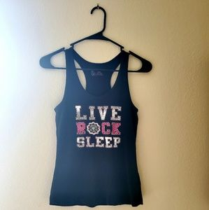 LIVE ROCK SLEEP Tank Top